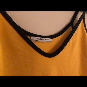 Zara Tops - Zara Yellow Bodysuit